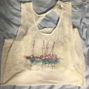 Boat tank beach cover up